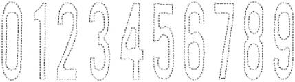AZ New Rough Thread Regular otf (400) Font OTHER CHARS