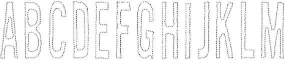 AZ New Rough Thread Regular otf (400) Font UPPERCASE