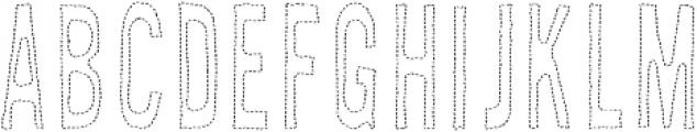 AZ New Rough Thread Regular otf (400) Font LOWERCASE