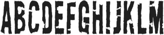 AZ New Rough Torn Regular otf (400) Font UPPERCASE