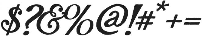 AZ Plug Italic Regular otf (400) Font OTHER CHARS