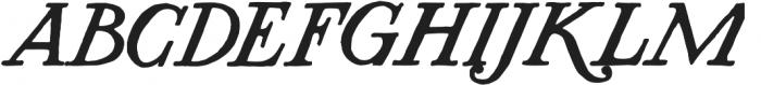 AZ Plug Italic Regular otf (400) Font UPPERCASE