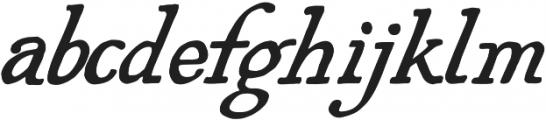 AZ Plug Italic Regular otf (400) Font LOWERCASE