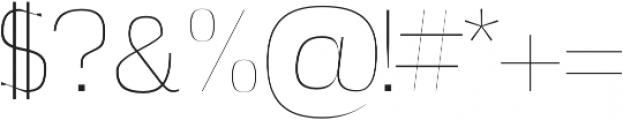 Azel Thin otf (100) Font OTHER CHARS