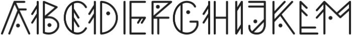 Aztec Geometric otf (400) Font LOWERCASE