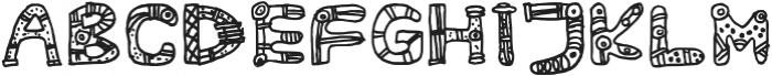 Aztec Legion Regular otf (400) Font UPPERCASE