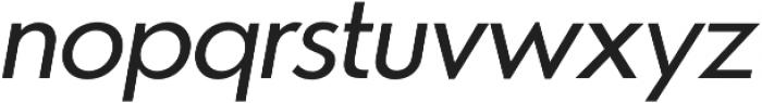 Azur NormalItalic otf (400) Font LOWERCASE