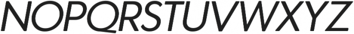 Azur NormalItalicRounded otf (400) Font UPPERCASE