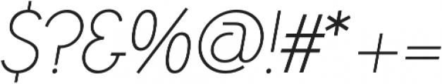 Azur ThinItalic otf (100) Font OTHER CHARS