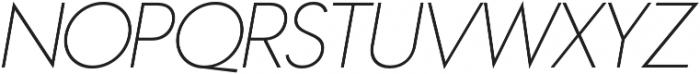 Azur ThinItalic otf (100) Font UPPERCASE