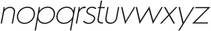 Azur ThinItalic otf (100) Font LOWERCASE