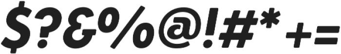 Azur XBoldItalicRounded otf (700) Font OTHER CHARS