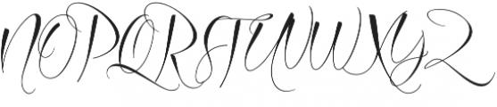 Azurra Script Regular otf (400) Font UPPERCASE