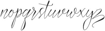 Azurra Script Regular otf (400) Font LOWERCASE