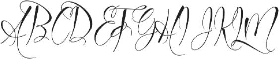 Azurra Script Regular ttf (400) Font UPPERCASE