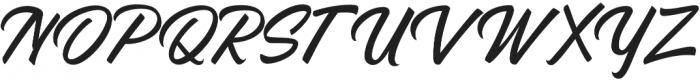 Azzardo Regular otf (400) Font UPPERCASE