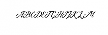 Azzury Script Font UPPERCASE