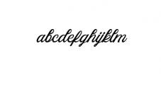 Azzury Script Font LOWERCASE