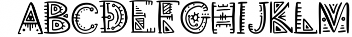 Aztec Soul. Tribal font with extras. Font UPPERCASE