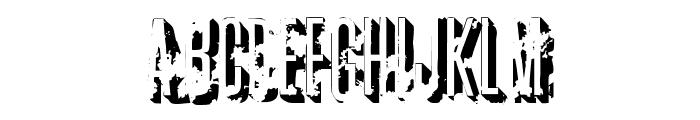 AZ  crushed Font LOWERCASE