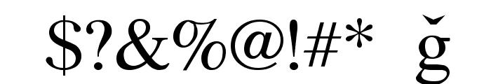 Azeri Latin Font OTHER CHARS