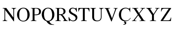 Azeri Latin Font UPPERCASE