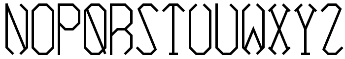 Azimuth Bold Font LOWERCASE
