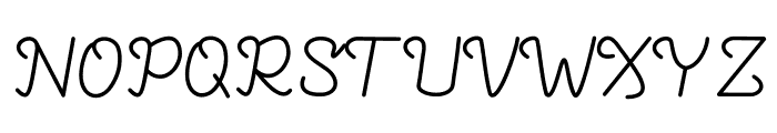 Azmerotta Font UPPERCASE