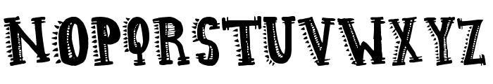 Aztec Hipster Font UPPERCASE