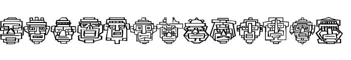 Aztecish Font UPPERCASE