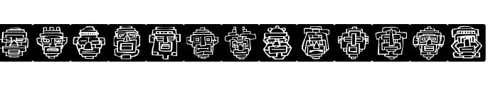 Aztecish Font LOWERCASE