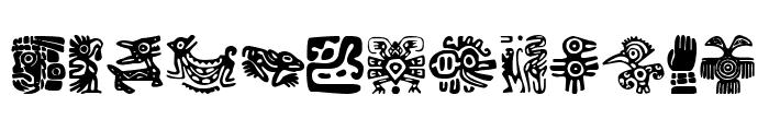 Aztecs Icons Font UPPERCASE