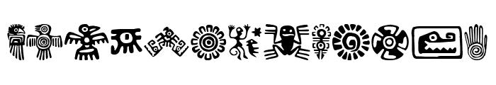 Aztecs Icons Font LOWERCASE