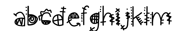 aztec kingdom Font LOWERCASE