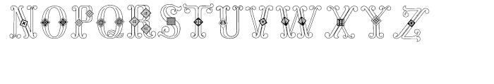 Azalleia Versals White Font UPPERCASE