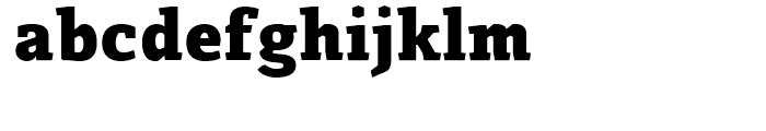 Azania Extra Bold Font LOWERCASE