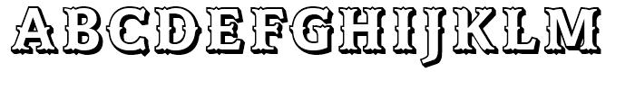 Azania Tuscan Extruded Font UPPERCASE