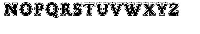 Azania Tuscan Outline Font UPPERCASE