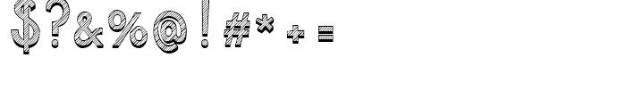 Azebra Shadow Font OTHER CHARS