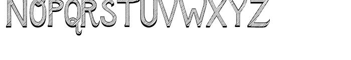 Azebra Shadow Font UPPERCASE