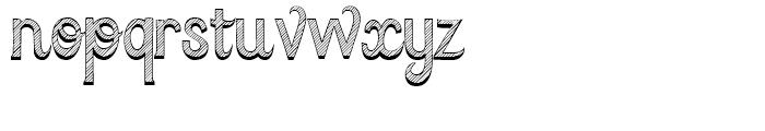 Azebra Shadow Font LOWERCASE