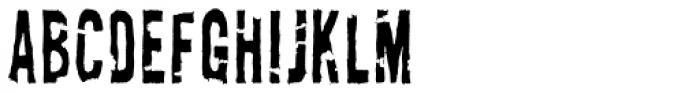 AZ New Rough Torn Font LOWERCASE