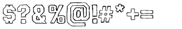AZ Pledge Outline Font OTHER CHARS