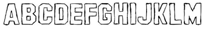 AZ Pledge Outline Font UPPERCASE