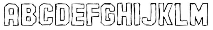 AZ Pledge Outline Font LOWERCASE