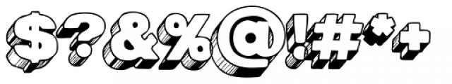AZ Postcard 3D Font OTHER CHARS
