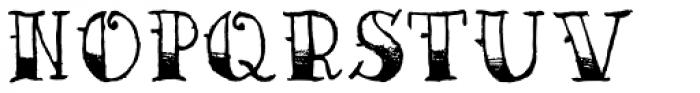 AZ Sailor Tattoo Font UPPERCASE