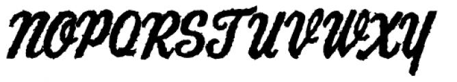AZ Script Font UPPERCASE