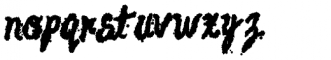 AZ Watercolor Heavy Font LOWERCASE