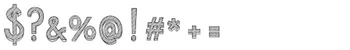 Azebra 3D Font OTHER CHARS